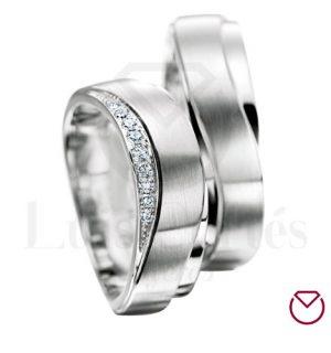 Argollas de matrimonio en plata LCAMP-01