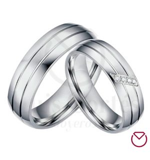 Argollas de matrimonio en plata LCAMP-04