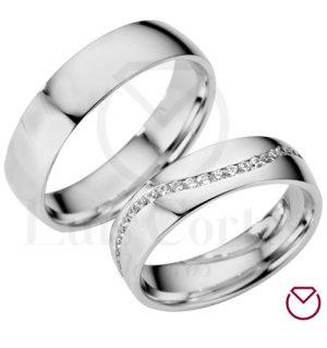 Argollas de matrimonio en plata LCAMP-05
