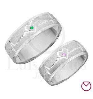 Argollas de matrimonio en plata LCAMP-06