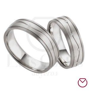 Argollas de matrimonio en plata LCAMP-09