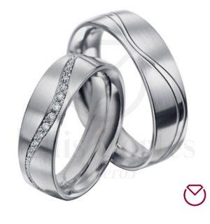 Argollas de matrimonio en plata LCAMP-12
