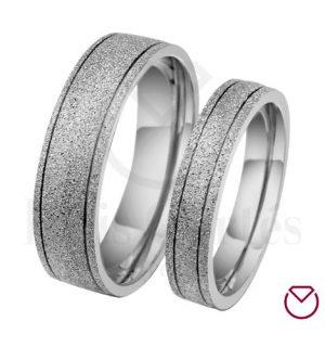 Argollas de matrimonio en plata LCAMP-13