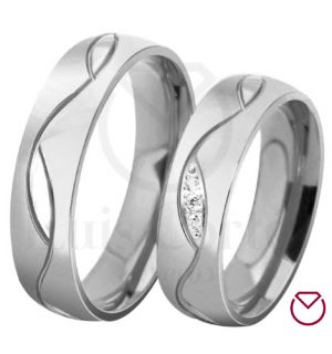 Argollas de matrimonio en plata LCAMP-15