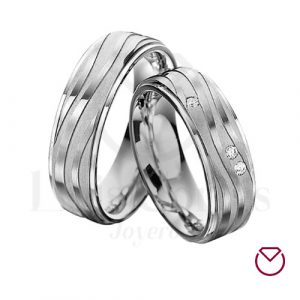 Argollas de matrimonio en plata LCAMP-18