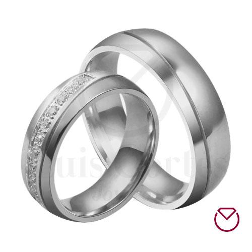 Argollas de matrimonio en plata LCAMP-17
