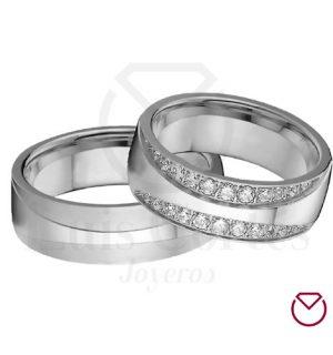 Argollas de matrimonio en plata LCAMP-19