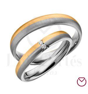 Argollas De Matrimonio Oro Plata Especiales LCAOPE-10