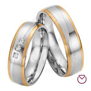 Argollas De Matrimonio Oro Plata Clásica