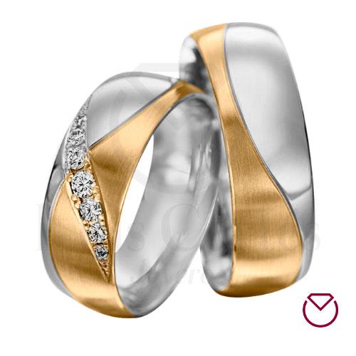 Argollas De Matrimonio Oro Plata Especiales LCAOPE-04