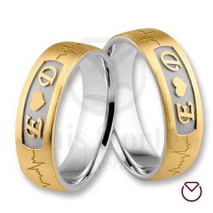 Argollas de matrimonio oro plata especiales LCAOPE-12