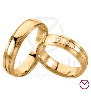Argollas de Matrimonio Oro 18k LCAMO-07