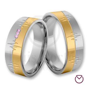 Argollas de matrimonio oro plata especiales LCAOPE-11