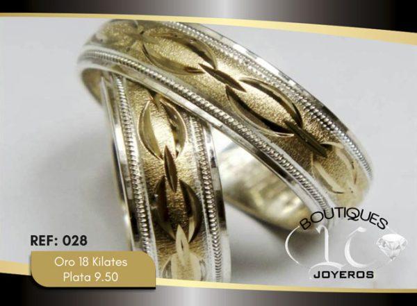 Argolla de matrimonio oro plata LCAOP-027