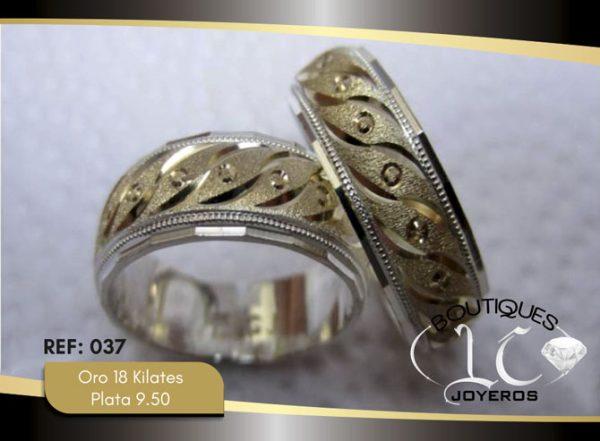 Argolla de matrimonio oro plata LCAOP-037