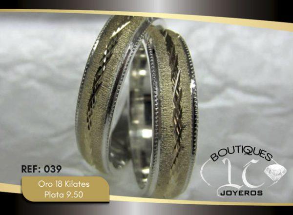 Argolla de matrimonio oro plata LCAOP-039