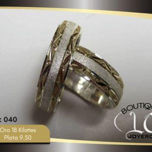 Argollas De Oro Plata LCAOP-040