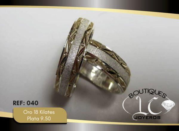 Argolla de matrimonio oro plata LCAOP-040