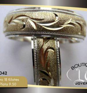 Argolla de matrimonio oro plata LCAOP-042