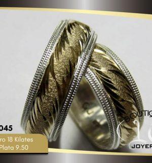 Argolla de matrimonio oro plata LCAOP-045