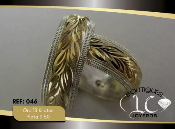 Argolla de matrimonio oro plata LCAOP-046