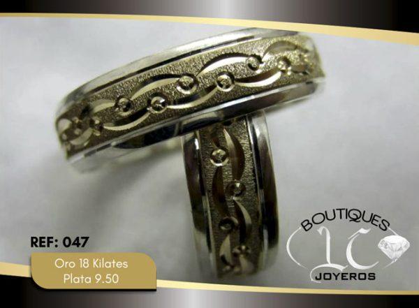 Argolla de matrimonio oro plata LCAOP-047