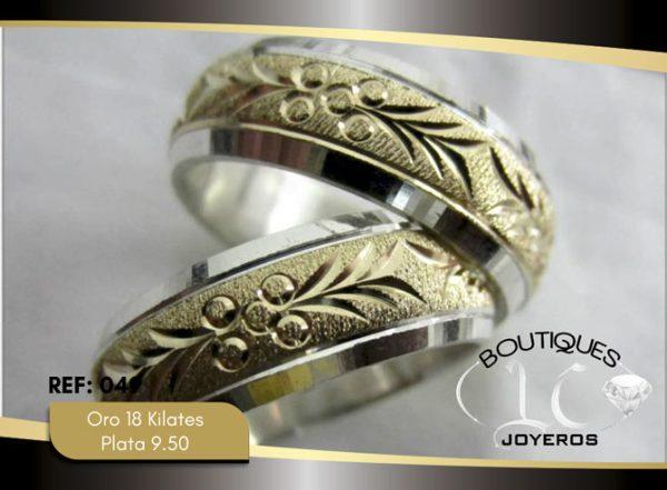 Argolla de matrimonio oro plata LCAOP-049