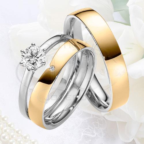151c7dc0edcc Argolla Matrimonio y Anillo de Compromiso Oro Plata LCAMAC-01
