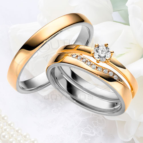 b28041872101 Argolla Matrimonio y Anillo de Compromiso Oro Plata LCAMAC-05