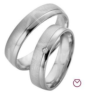 Argollas de matrimonio en plata LCAMP-14