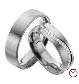 Argollas de matrimonio en plata LCAMP-16