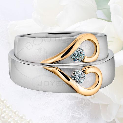 96eb4196b014 Argollas De Matrimonio Oro Plata Especiales LCAOPE-07