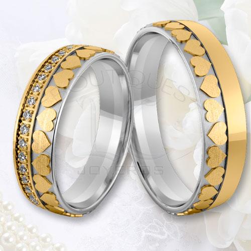 f5d59a5191a8 Argollas De Matrimonio Oro Plata Especiales LCAOPE-17