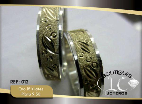 Argollas De Oro Plata / REF. 133AOP