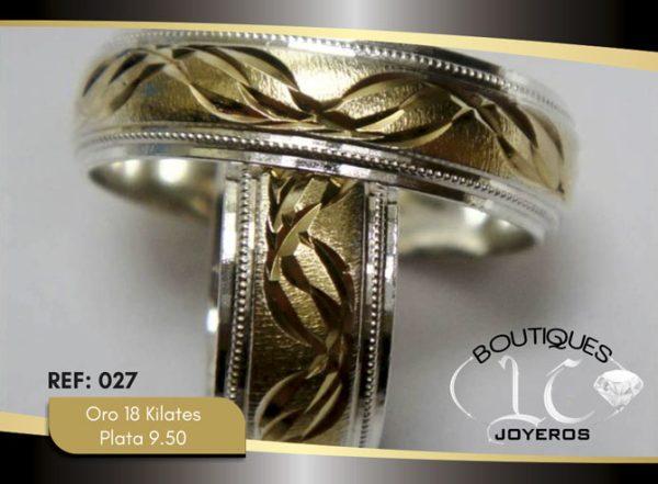 Argollas De Oro Plata / REF. 138AOP