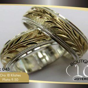 Argollas De Oro Plata / REF. 146AOP