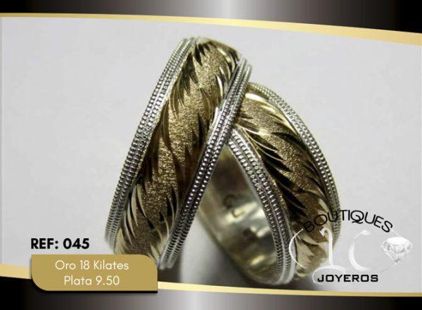 Argolla De Oro Plata / REF. 147AOP