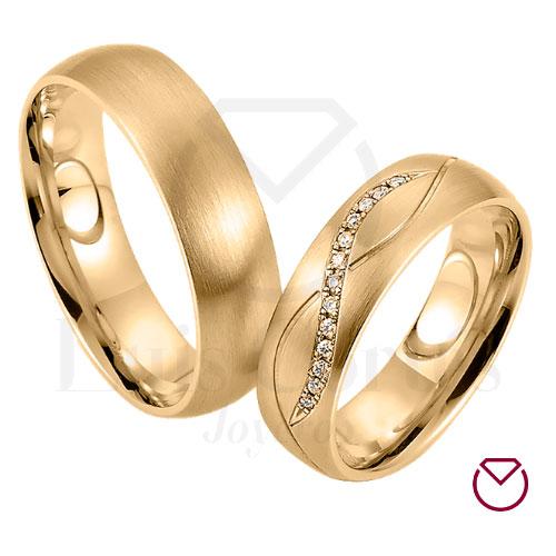 Argollas de Matrimonio Oro 18k LCAMO-03