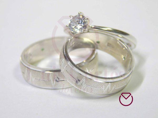 Argolla Matrimonio y Anillo de Compromiso Plata LCAMAC-08