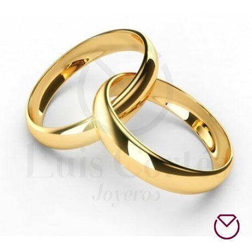 Argollas de matrimonio en oro 21