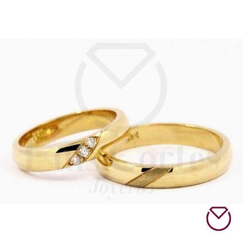 Argollas de matrimonio en oro 24