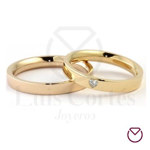 Argollas de matrimonio en oro 30