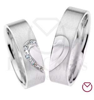 Argollas de matrimonio en plata LCAMP-07