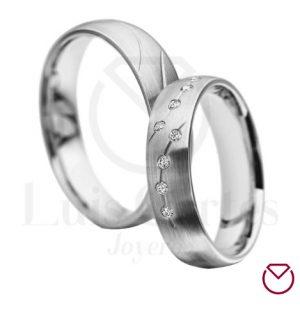 Argollas de matrimonio en plata LCAMP-10