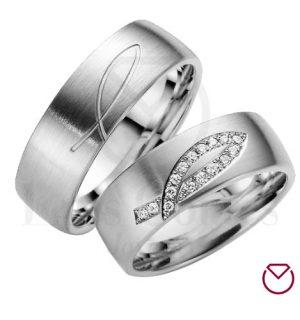 Argollas de matrimonio en plata LCAMP-11