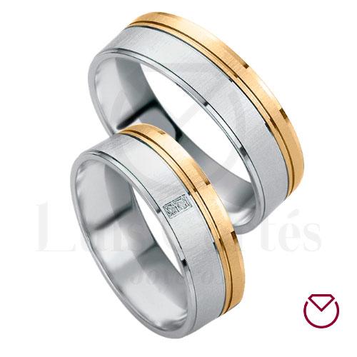 Argollas para matrimonio oro plata 08