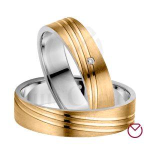 Argollas De Matrimonio Oro Plata Especiales LCAOPE-01