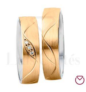 Argollas De Matrimonio Oro Plata Especiales LCAOPE-02