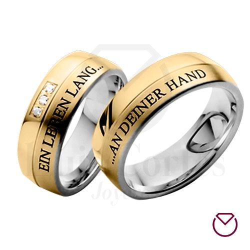 Argollas para matrimonio oro plata 03