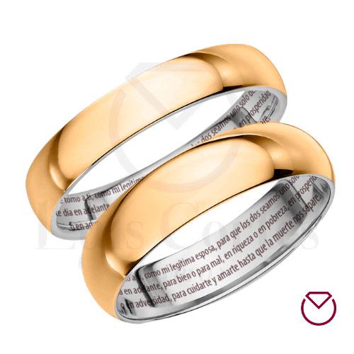 Argollas De Matrimonio Oro Plata Especiales LCAOPE-06